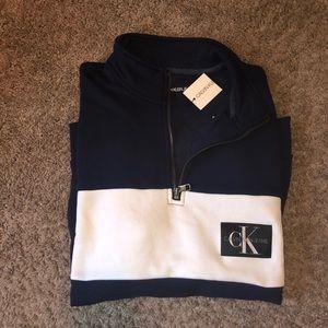 NEW Calvin Klein Half Zip Sweatshirt